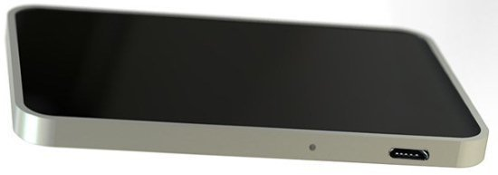 """На правой боковой стороне  обнаружителя жучков BugHunter CR-1 """"Карточка"""" расположены разъем microUSB для подключения зарядного устройства и светодиод процесса зарядки аккумулятора"""