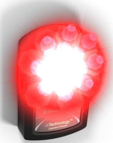 Сверхъяркие светодиоды обнаружителя BugHunter Dvideo Эконом в действии
