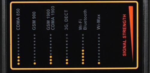 Главное конкурентное преимущество детектора жучков Защита 1207i в индикации мощности поля для каждого диапазона отдельно